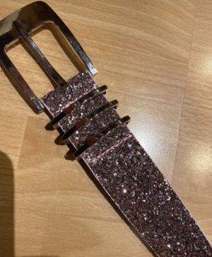 Cinturón de cuero de imitación multicolor