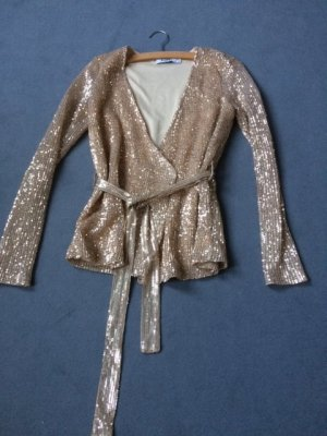NA-KD Blouse Jacket gold-colored polyester