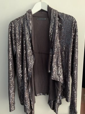 Velvet Blouse Jacket grey lilac