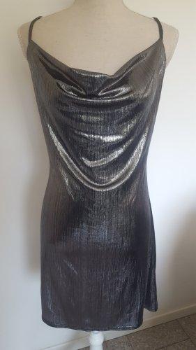 Primark Vestido tipo overol color plata