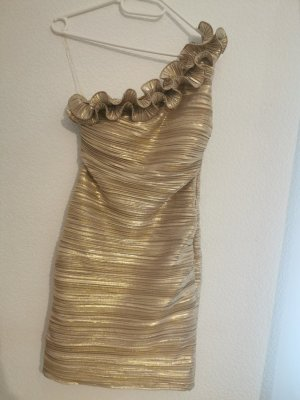 One Shoulder Dress gold-colored