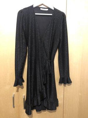 Kopertowa sukienka czarny