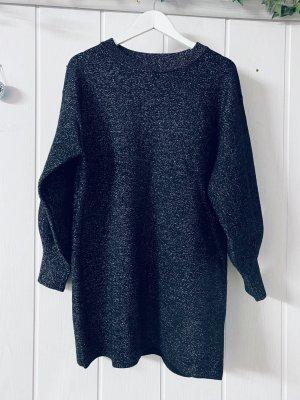 H&M Vestido tipo jersey gris antracita-color plata
