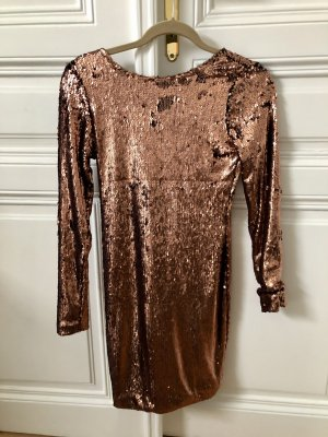 Glitzerkleid in Bronze