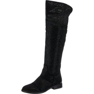 Alma en Pena Overknees black leather