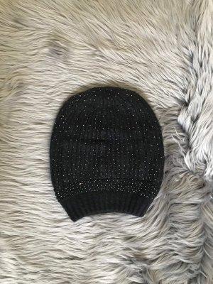 Czapka typu beanie czarny-srebrny