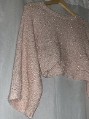 Glitzernder Crop Pullover