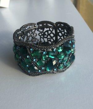 Glitzerndes Armband in Smaragdgrün *Neu*