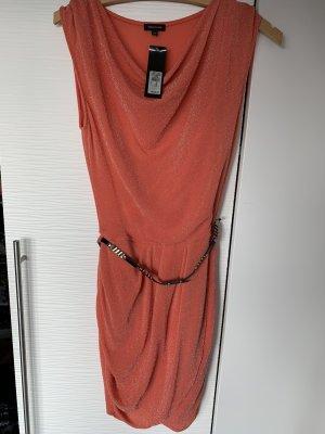 Glitzerndes Kleid mit Wasserfall Ausschnitt