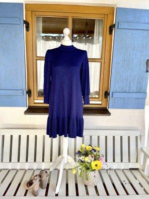 Benetton Sukienka z dzianiny niebieski Wiskoza