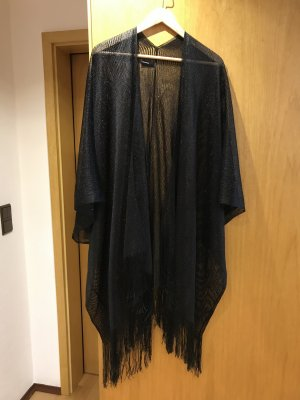 Soyaconcept Knitted Poncho black mixture fibre