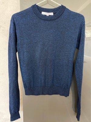 & other stories Sweter z okrągłym dekoltem ciemnoniebieski-niebieski