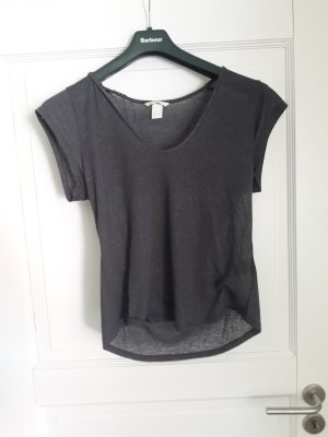 H&M T-shirt złoto-ciemnoszary