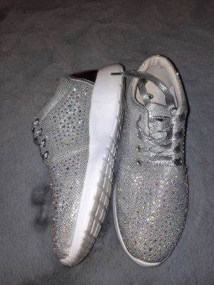 Claudia Ghizzani Lace-Up Sneaker silver-colored