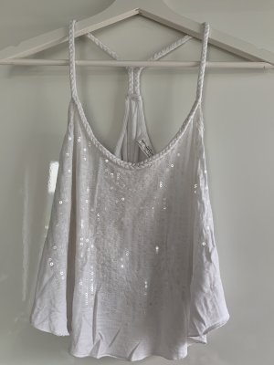 Abercrombie & Fitch Spaghetti Strap Top white-light grey