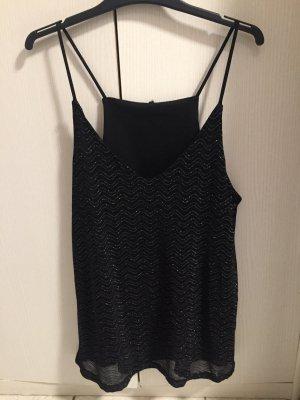 Camisola negro-color plata