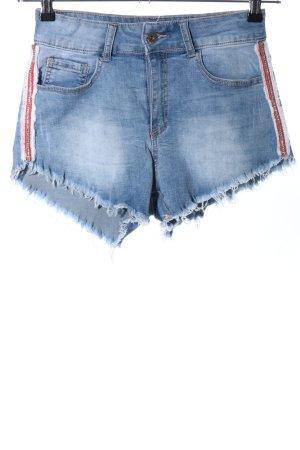 Glo-Story Jeans Short bleu style décontracté