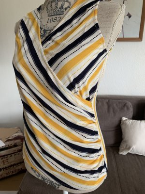 Glo Story Top/Shirt - Gestreift - Yellow/White - Größe S 36 - NuOvO!