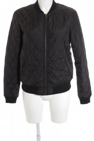 Global Steppjacke schwarz Steppmuster
