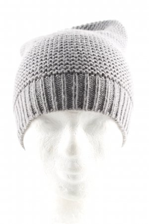 Global Knitted Hat light grey cable stitch casual look