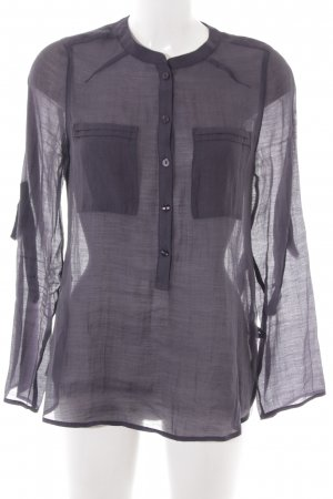 Global Transparenz-Bluse dunkelgrau Casual-Look