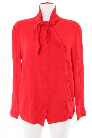 Langarm-Bluse rot Business-Look