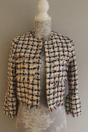 Bershka Tweed blazer veelkleurig Katoen