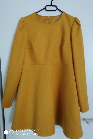 COS Vestito di lana giallo-oro Viscosa