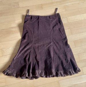 3 Suisses Rozkloszowana spódnica ciemnobrązowy