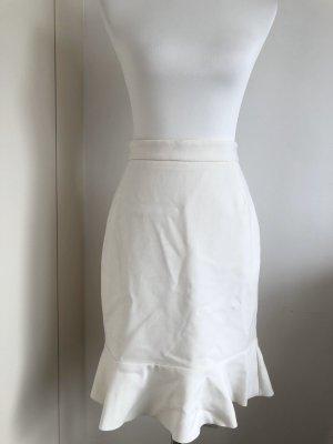 H&M Flared Skirt natural white