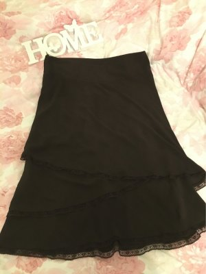 H&M Flared Skirt black brown-dark brown