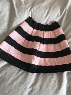 H&M Gonna a campana rosa pallido-nero