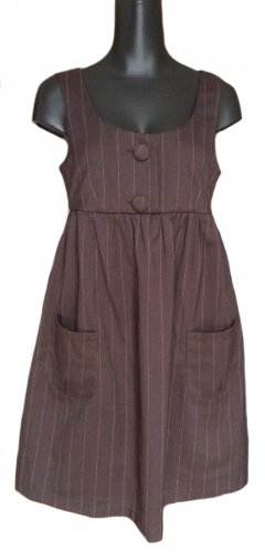 Avanti Pinafore dress dark brown polyester