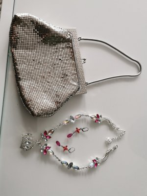 Statement Necklace silver-colored-pink