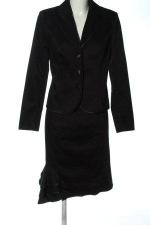 Glööckler Kostium czarny W stylu biznesowym
