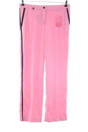 Glööckler Stoffhose pink-schwarz Casual-Look