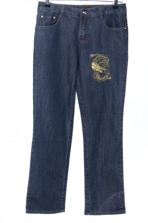 Glööckler Straight-Leg Jeans blau Casual-Look