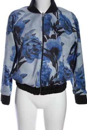 gloria jeans Bomberjacke blau-schwarz Blumenmuster Casual-Look