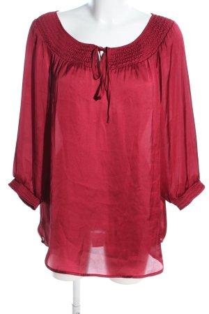 Gloria Vanderbilt Langarm-Bluse rot Casual-Look