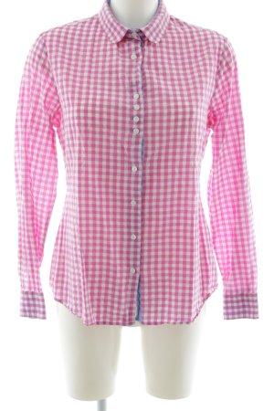 Gloriette Vienna Langarmhemd pink-weiß Karomuster Casual-Look