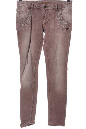 Glücksstern High Waist Jeans brown casual look