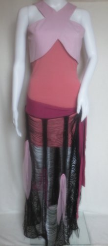 Hippie Dress black-pink