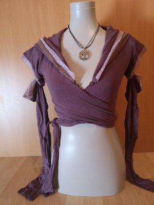Lace Top mauve-grey violet
