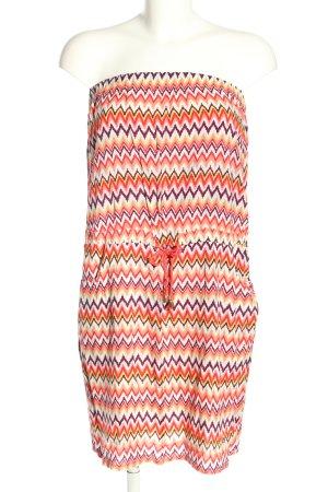 GOA schulterfreies Kleid grafisches Muster Casual-Look