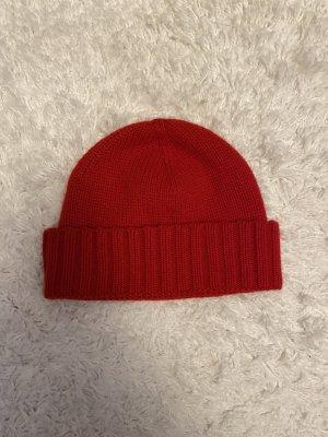 Gobi Kaschmir Rippenstrick-Mütze rot unisex