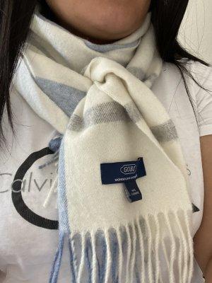 Gobi Sciarpa in cashmere azzurro-bianco sporco