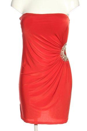 Goddess Jerseykleid rot-silberfarben Elegant