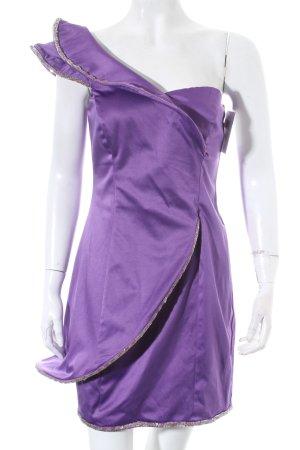Goddess One-Shoulder-Kleid lila Party-Look