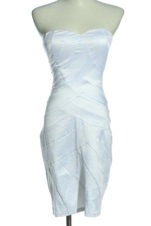 Goddess Abito senza spalle bianco elegante