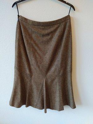 Rena Lange Tweed Skirt grey brown